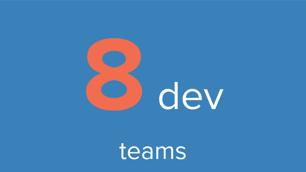 8 dev teams