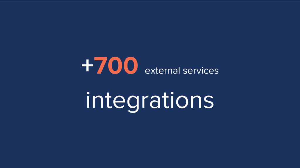 +700 external services integrations