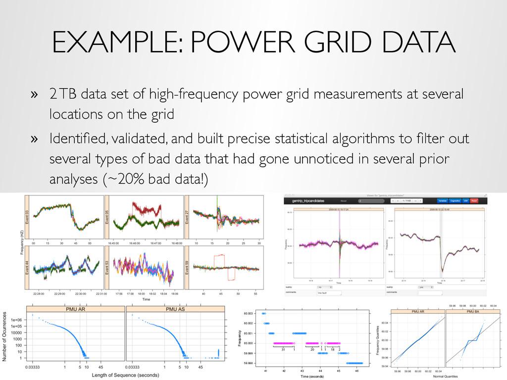 EXAMPLE: POWER GRID DATA » 2 TB data set of hi...