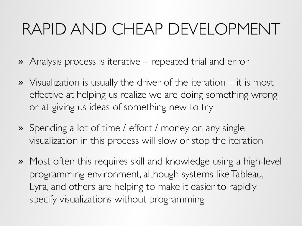 RAPID AND CHEAP DEVELOPMENT »  Analysis process...