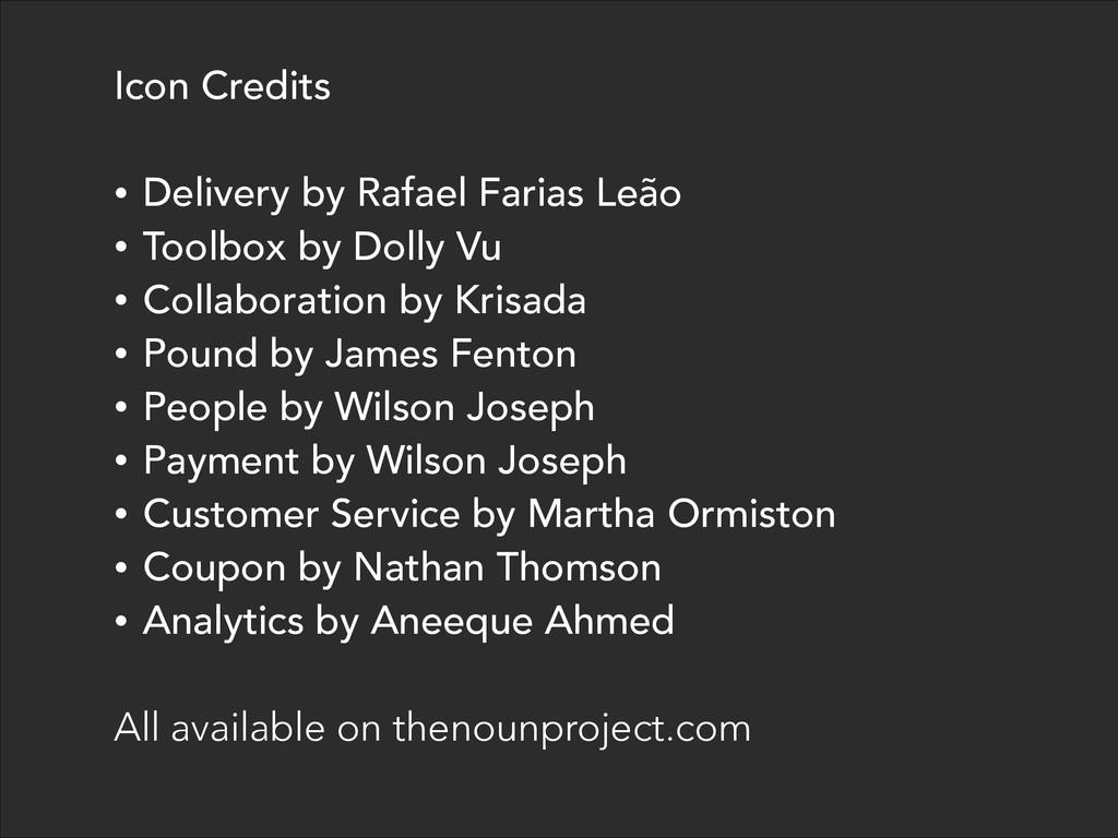 Icon Credits ! • Delivery by Rafael Farias Leão...