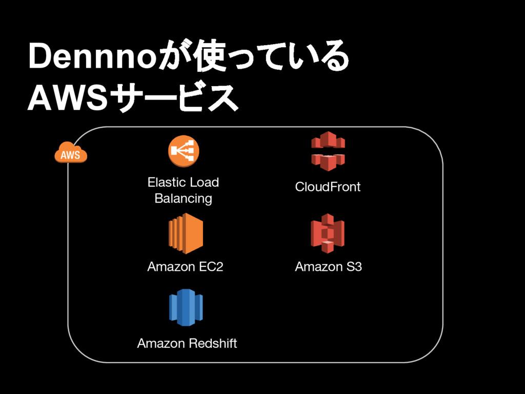 Dennnoが使っている AWSサービス Amazon EC2 Elastic Load Ba...