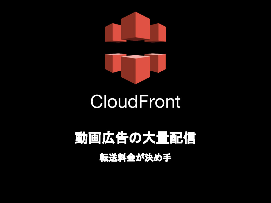 CloudFront 動画広告の大量配信 転送料金が決め手