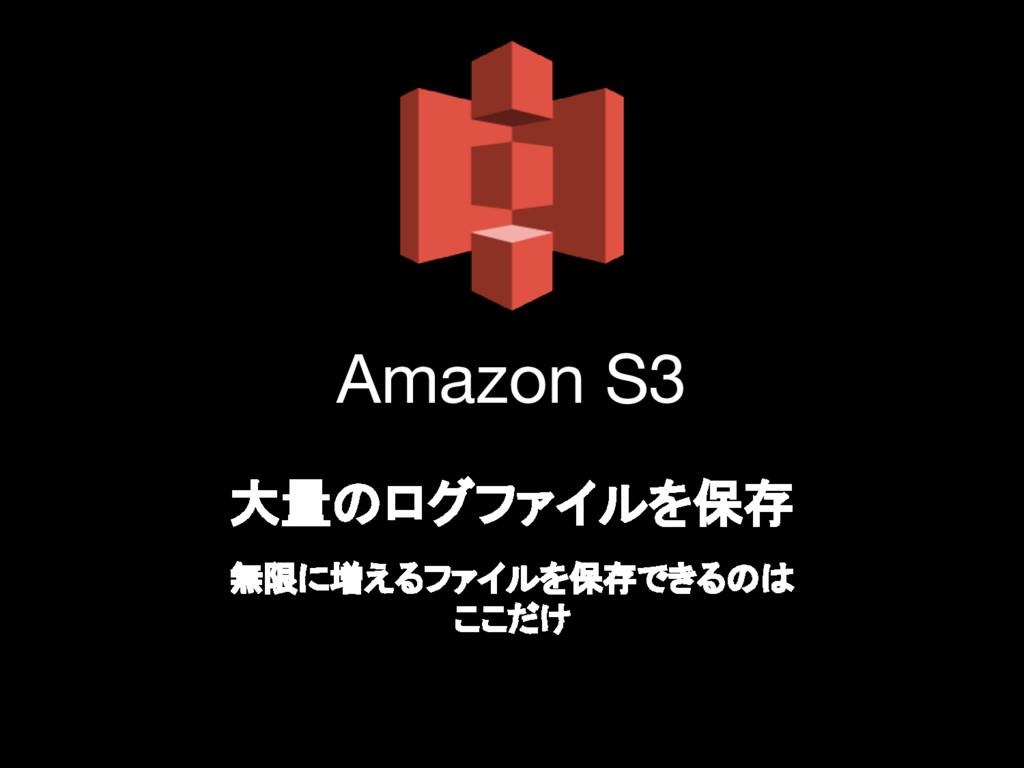 Amazon S3 大量のログファイルを保存 無限に増えるファイルを保存できるのは ここだけ