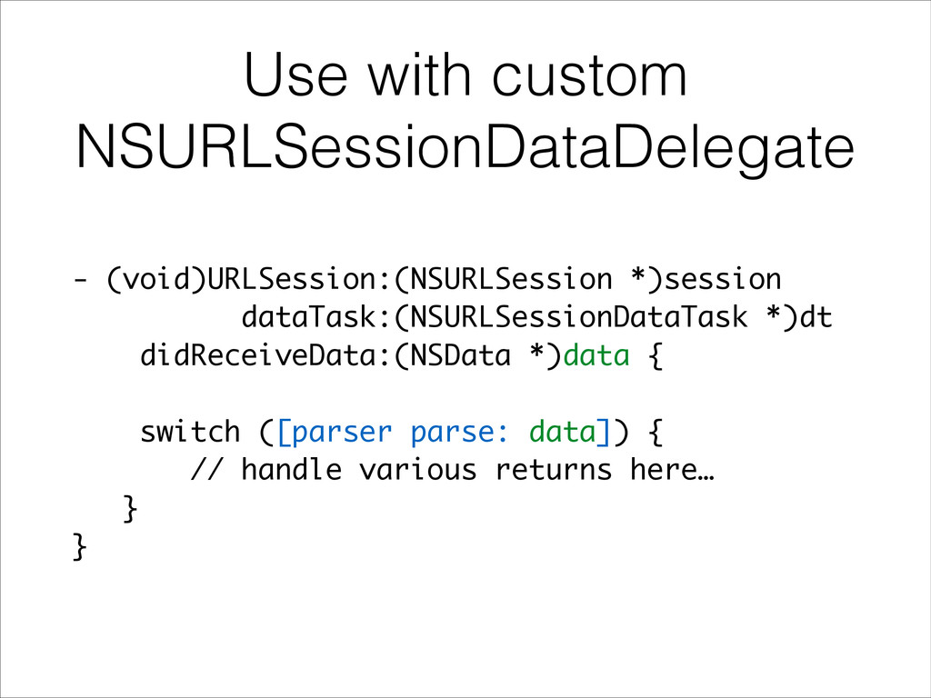 Use with custom