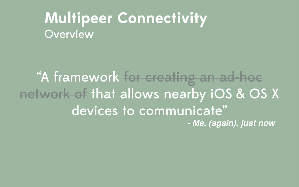 """""""A framework for creating an ad-hoc network of ..."""