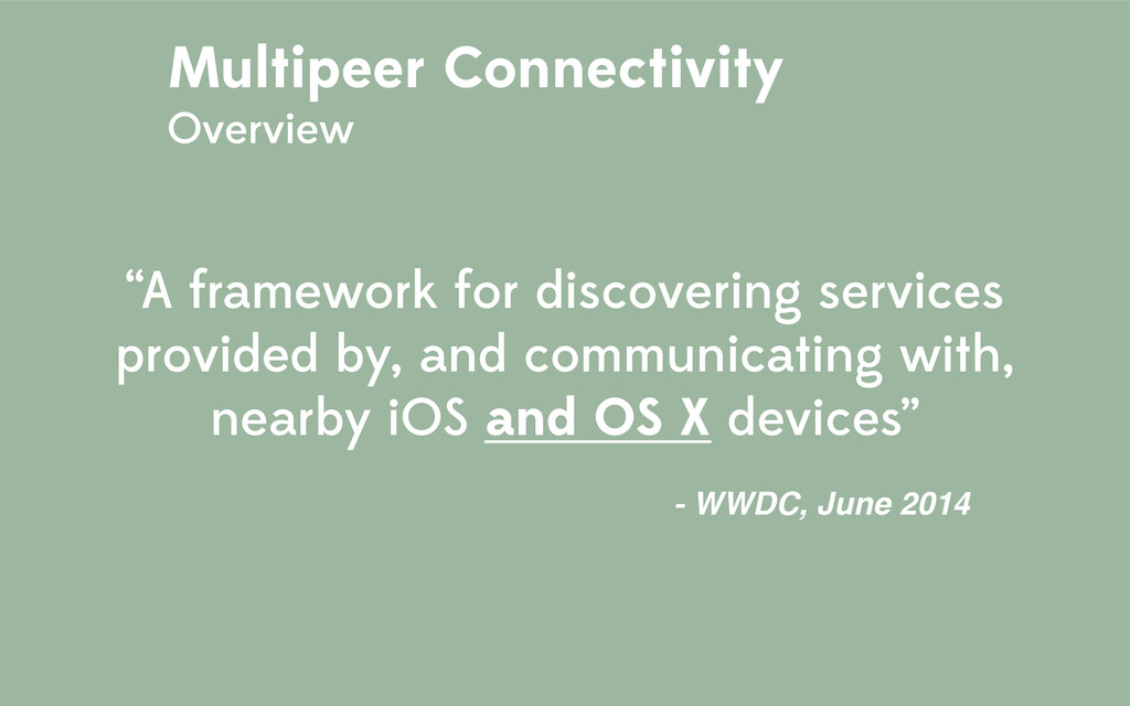 """""""A framework for discovering services provided ..."""