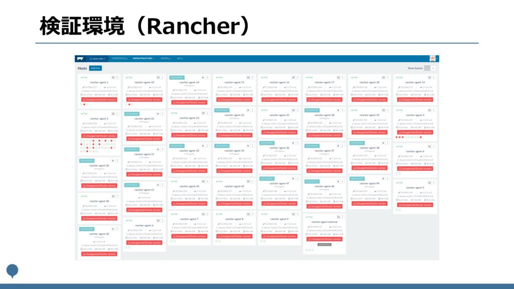 検証環境(Rancher)