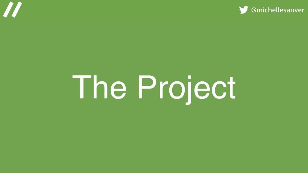 @michellesanver The Project