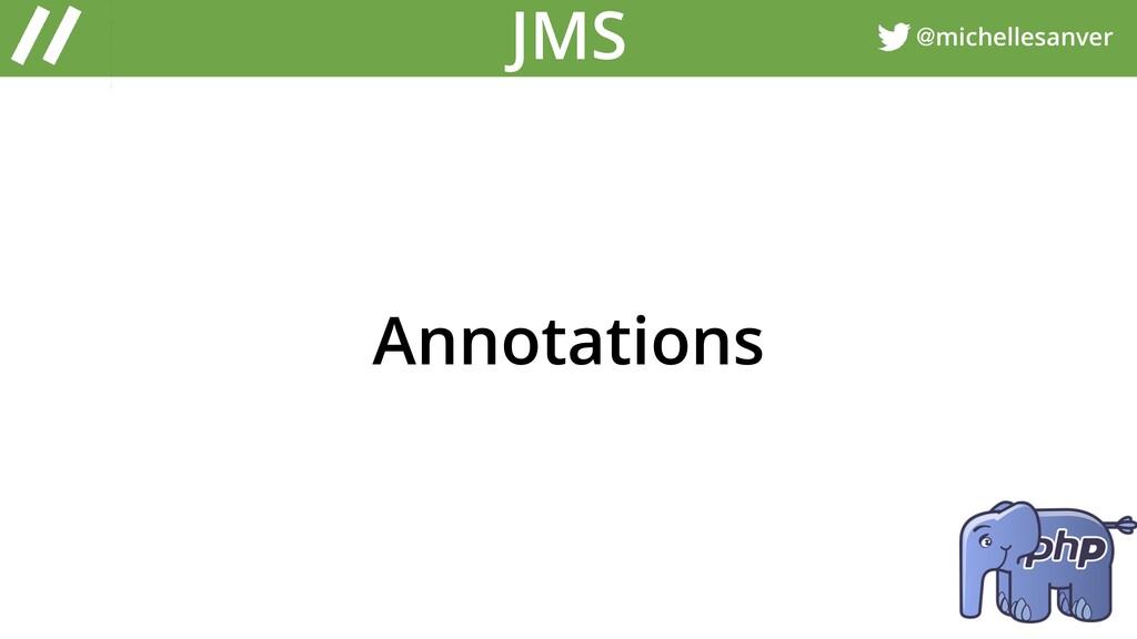 @michellesanver JMS Annotations