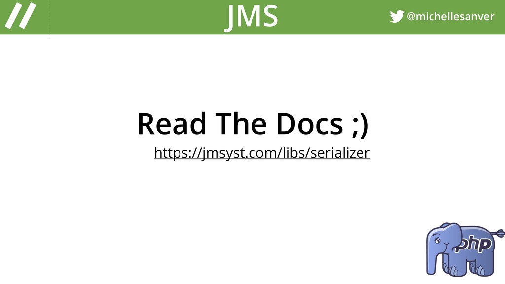 @michellesanver JMS Read The Docs ;) https://jm...