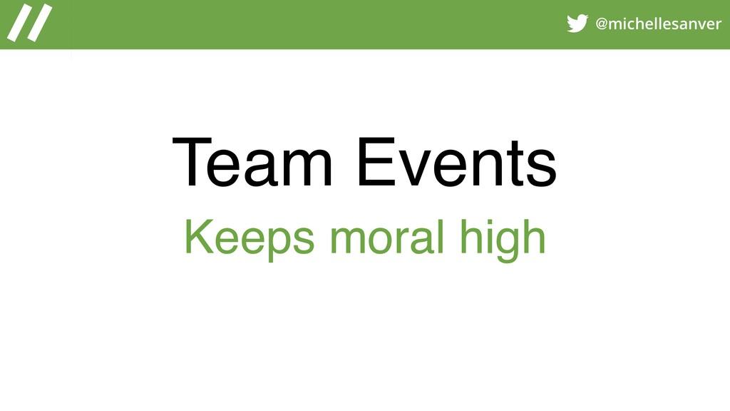 @michellesanver Team Events Keeps moral high