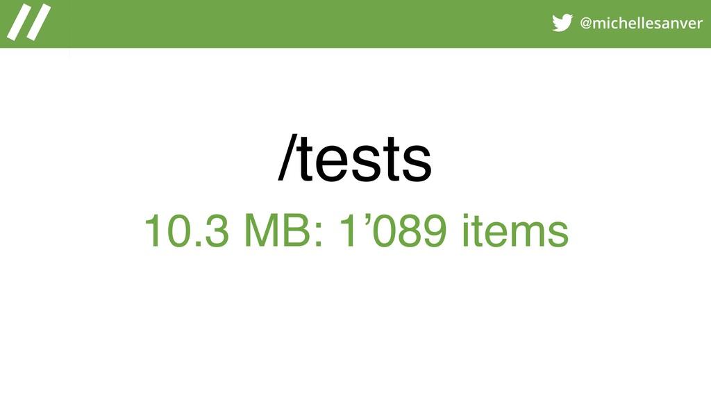 @michellesanver /tests 10.3 MB: 1'089 items