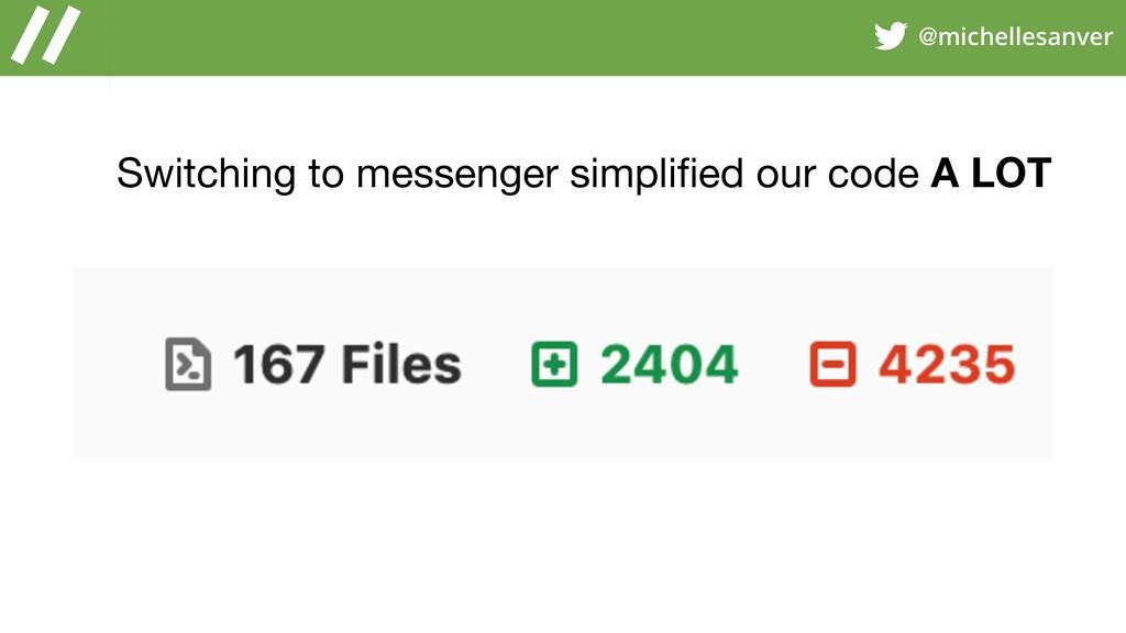 @michellesanver Switching to messenger simplifie...