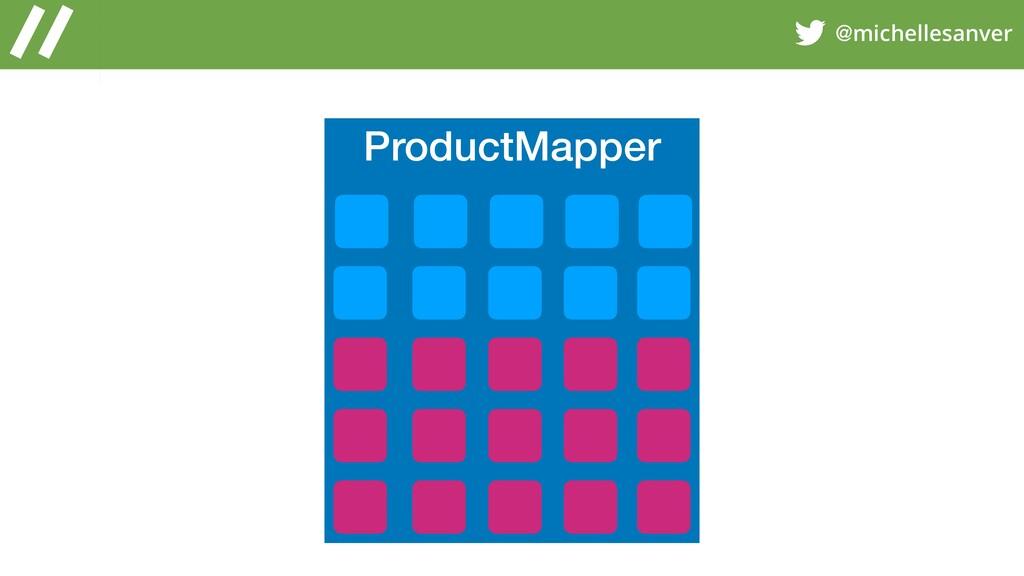 @michellesanver ProductMapper