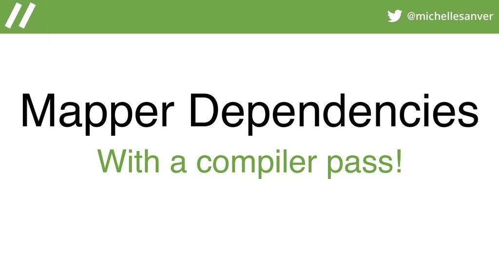 @michellesanver Mapper Dependencies With a comp...
