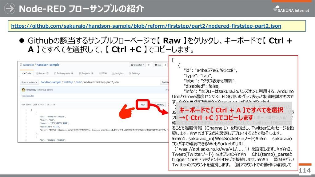 Node-RED フローサンプルの紹介 l Githubの該当するサンプルフローページで【 R...