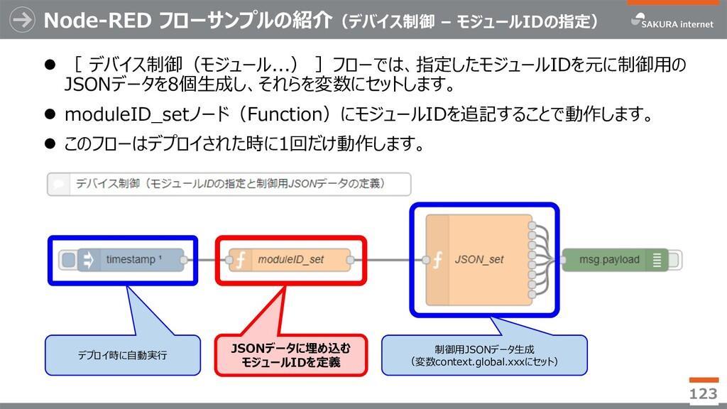 Node-RED フローサンプルの紹介(デバイス制御 – モジュールIDの指定) l [ デバ...