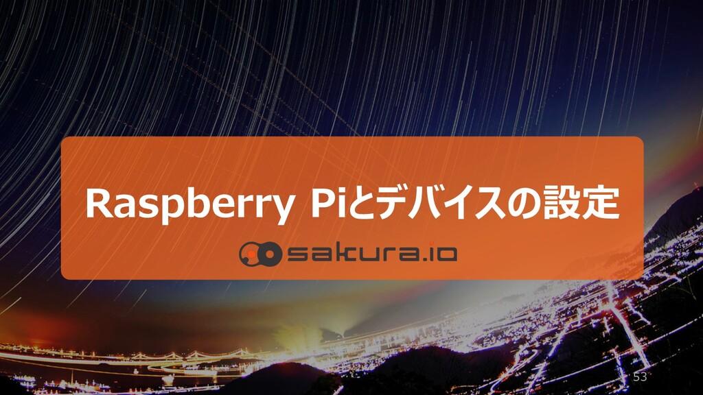 53 Raspberry Piとデバイスの設定