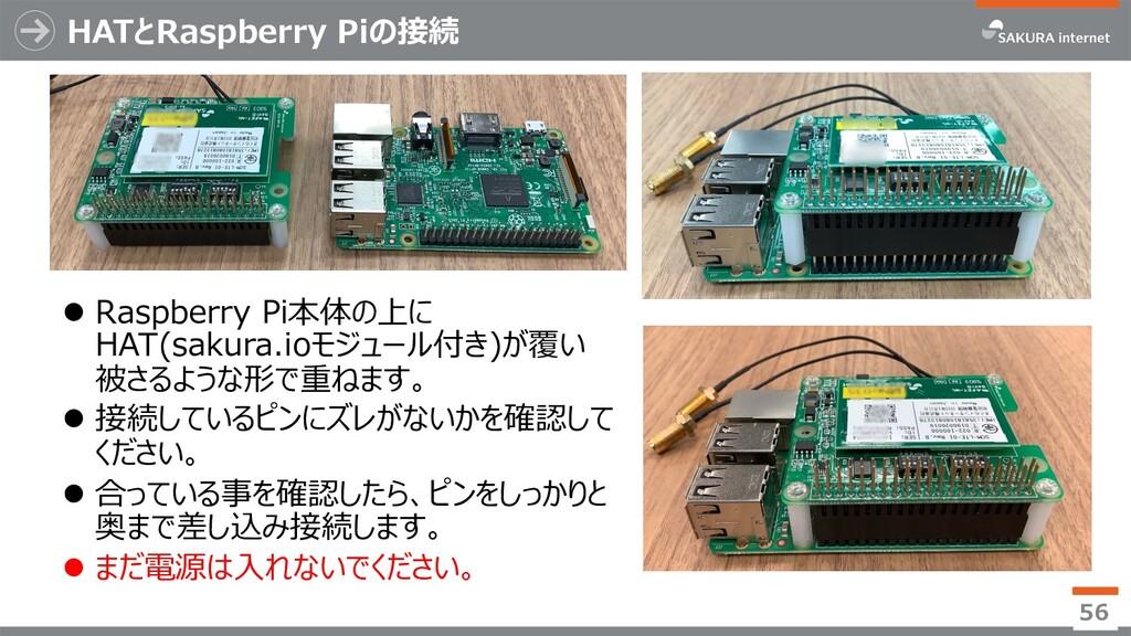 HATとRaspberry Piの接続 l Raspberry Pi本体の上に HAT(sak...