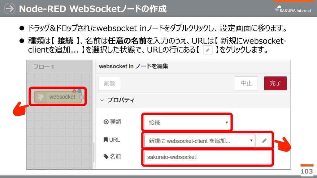 Node-RED WebSocketノードの作成 l ドラッグ&ドロップされたwebsocke...