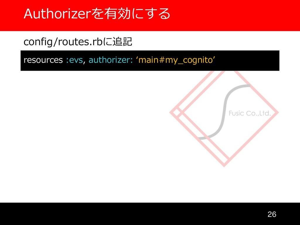 Authorizerを有効にする  config/routes.rbに追記 resourc...