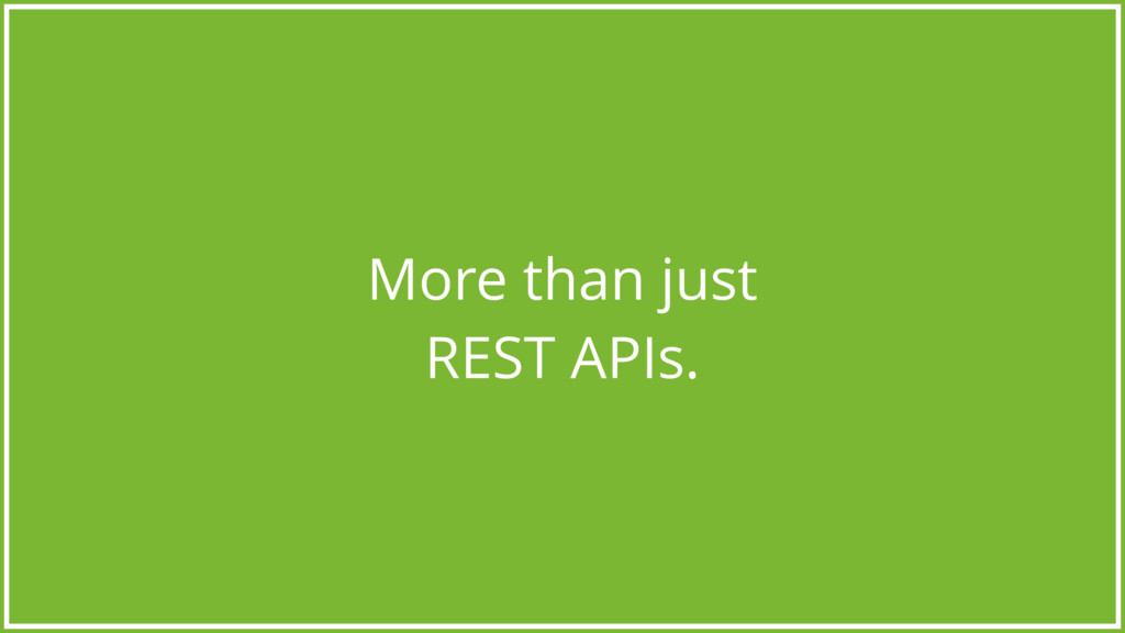 More than just