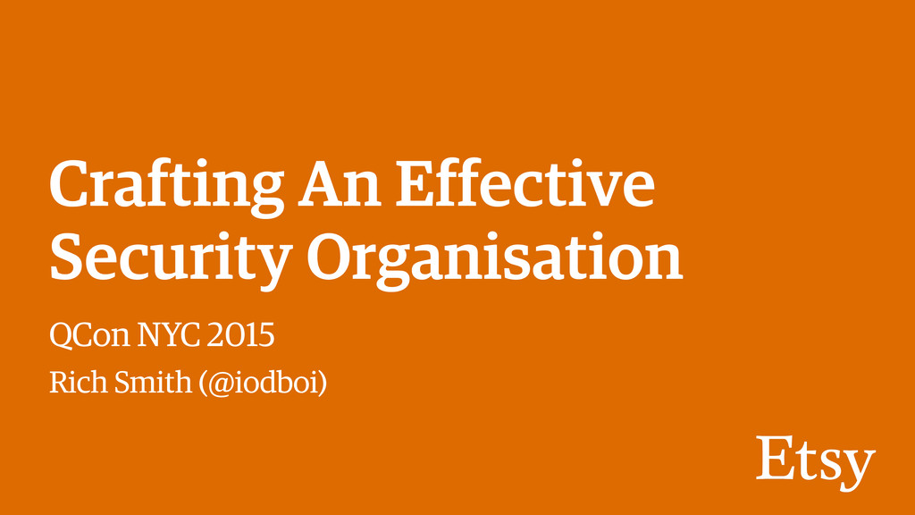 Crafting An Effective Security Organisation QCo...