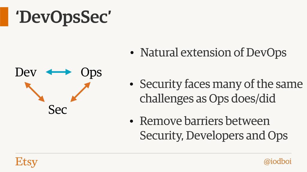 @iodboi 'DevOpsSec' Dev Ops Sec • Natural exten...