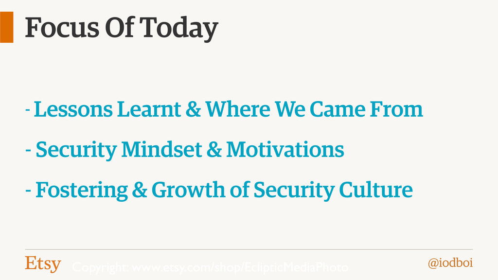 @iodboi Focus Of Today - Lessons Learnt & Where...