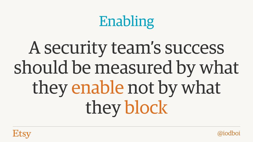 @iodboi A security team's success should be mea...
