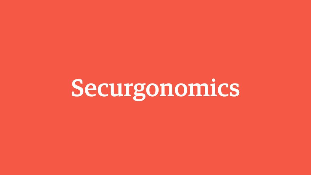 Securgonomics