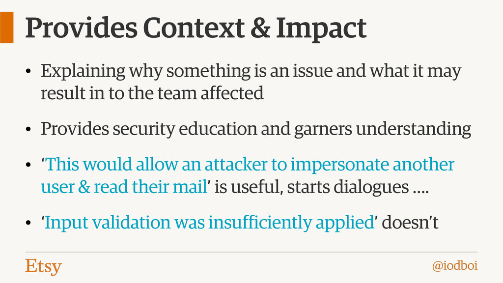 @iodboi Provides Context & Impact • Explaining ...