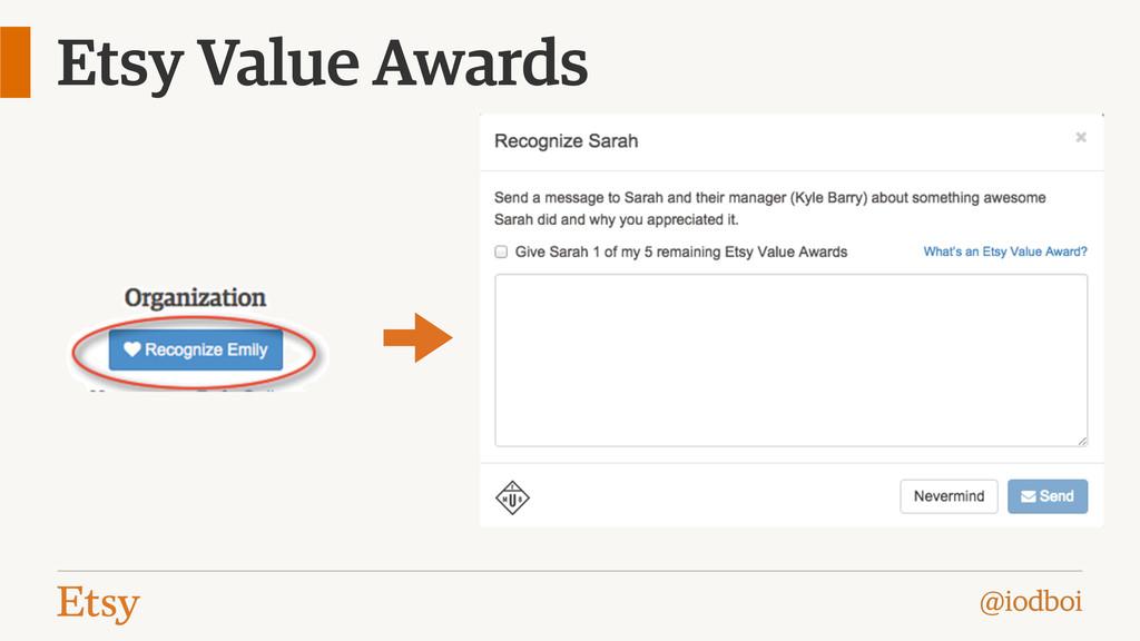 @iodboi Etsy Value Awards