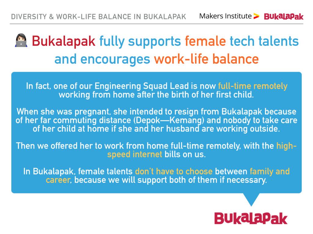 DIVERSITY & WORK-LIFE BALANCE IN BUKALAPAK & Bu...