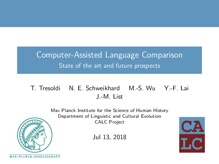 LC CA Computer-Assisted Language Comparison Sta...