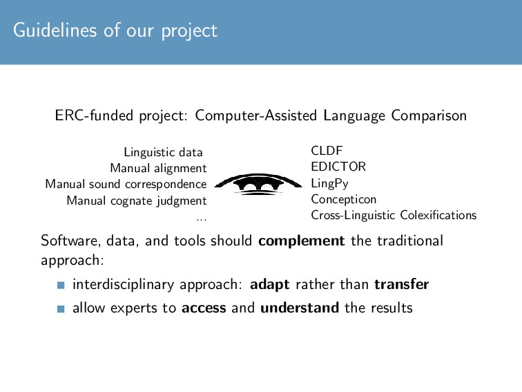 Guidelines of our project ERC-funded project: C...
