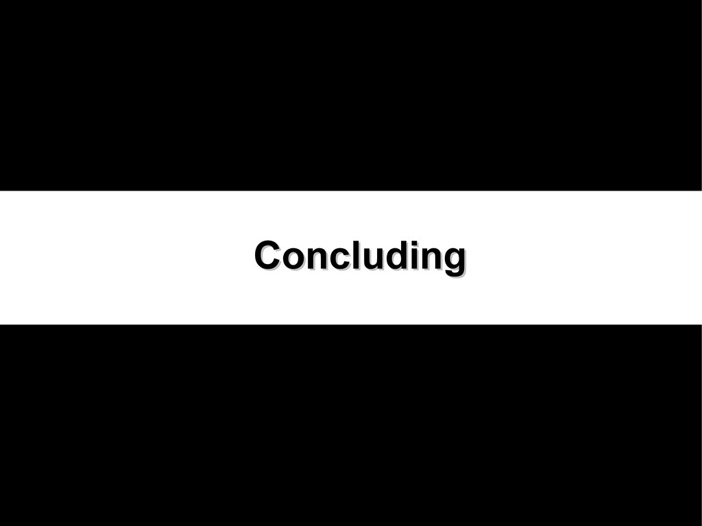 Concluding Concluding