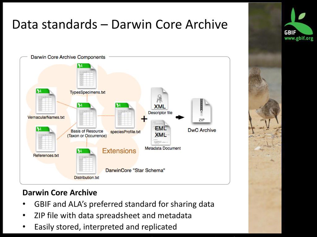 Data standards – Darwin Core Archive Darwin Cor...