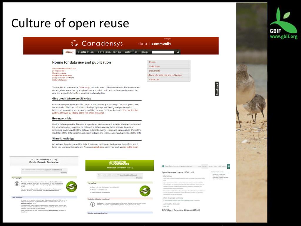 Culture of open reuse