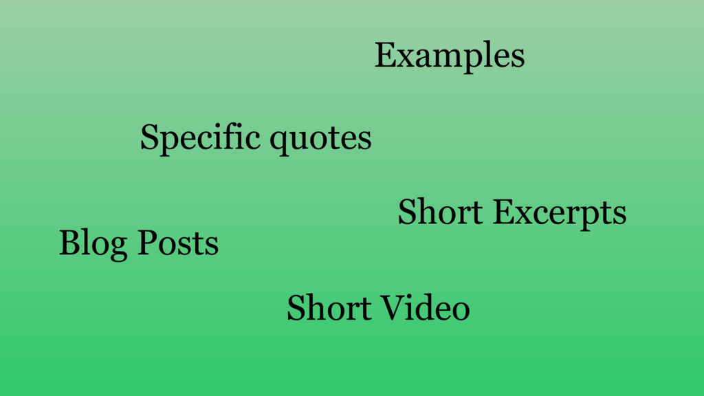 Specific quotes Blog Posts Examples Short Excer...