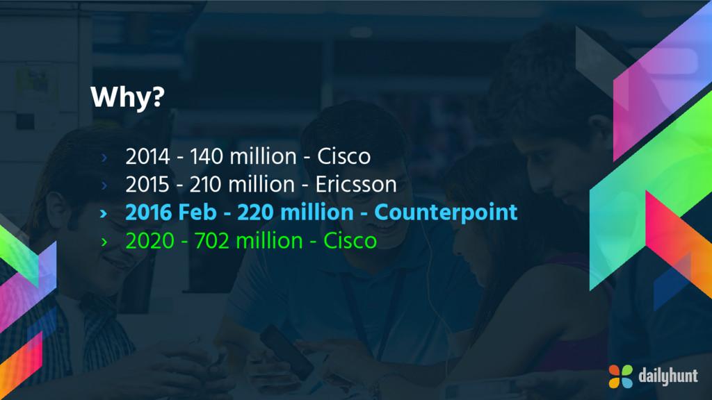 Why? › 2014 - 140 million - Cisco › 2015 - 210 ...