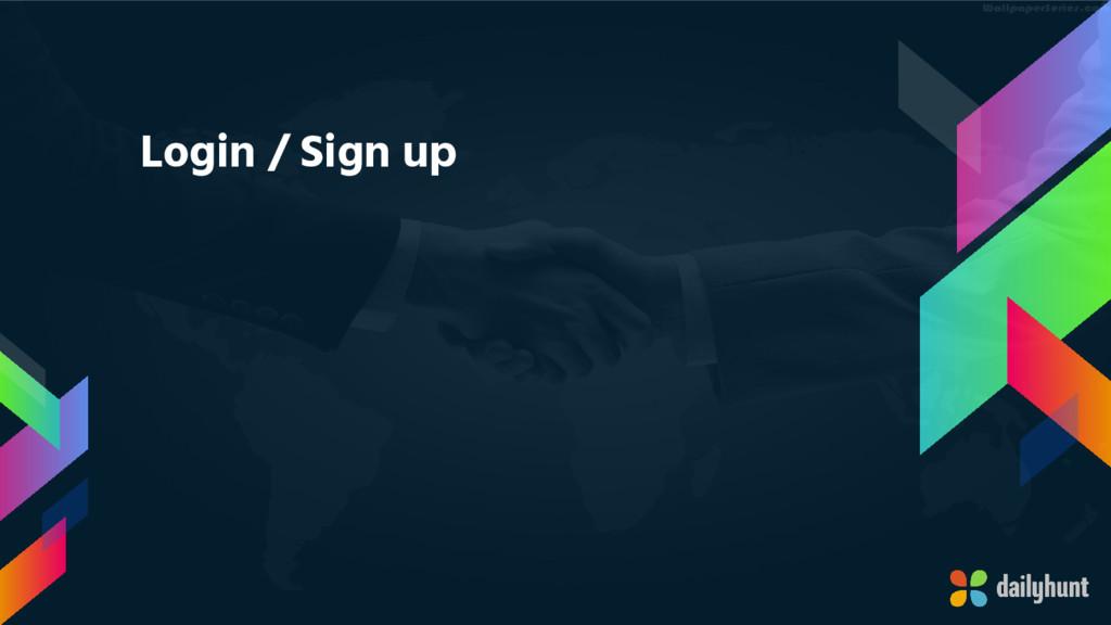 Login / Sign up