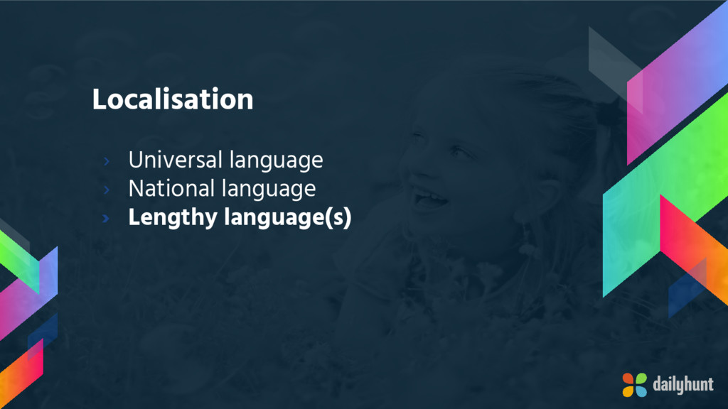Localisation › Universal language › National la...