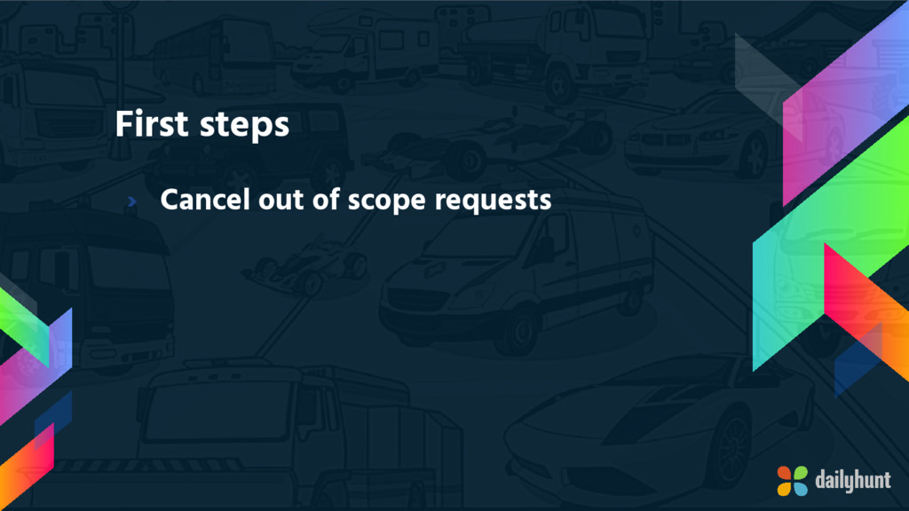 First steps › Cancel out of scope requests