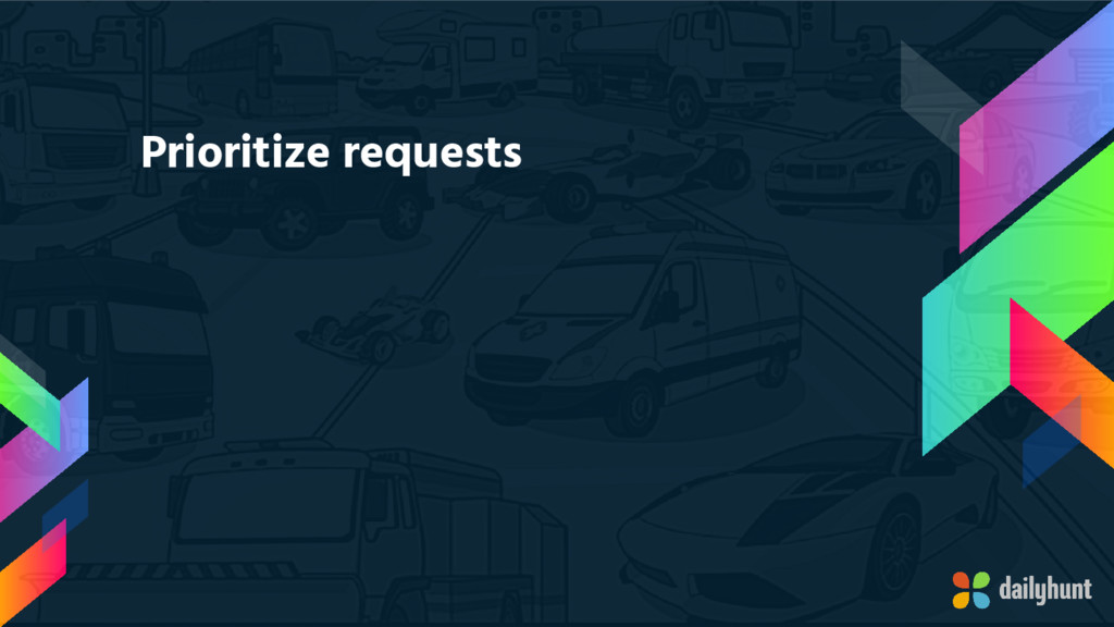 Prioritize requests