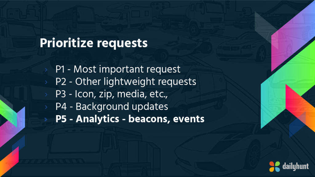 Prioritize requests › P1 - Most important reque...