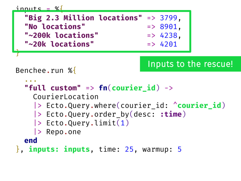 "inputs = %{ ""Big 2.3 Million locations"" => 3799..."