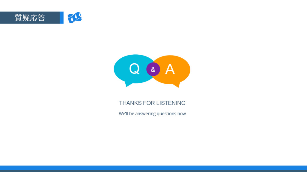 THANKS FOR LISTENING Q A & We'll be answering q...