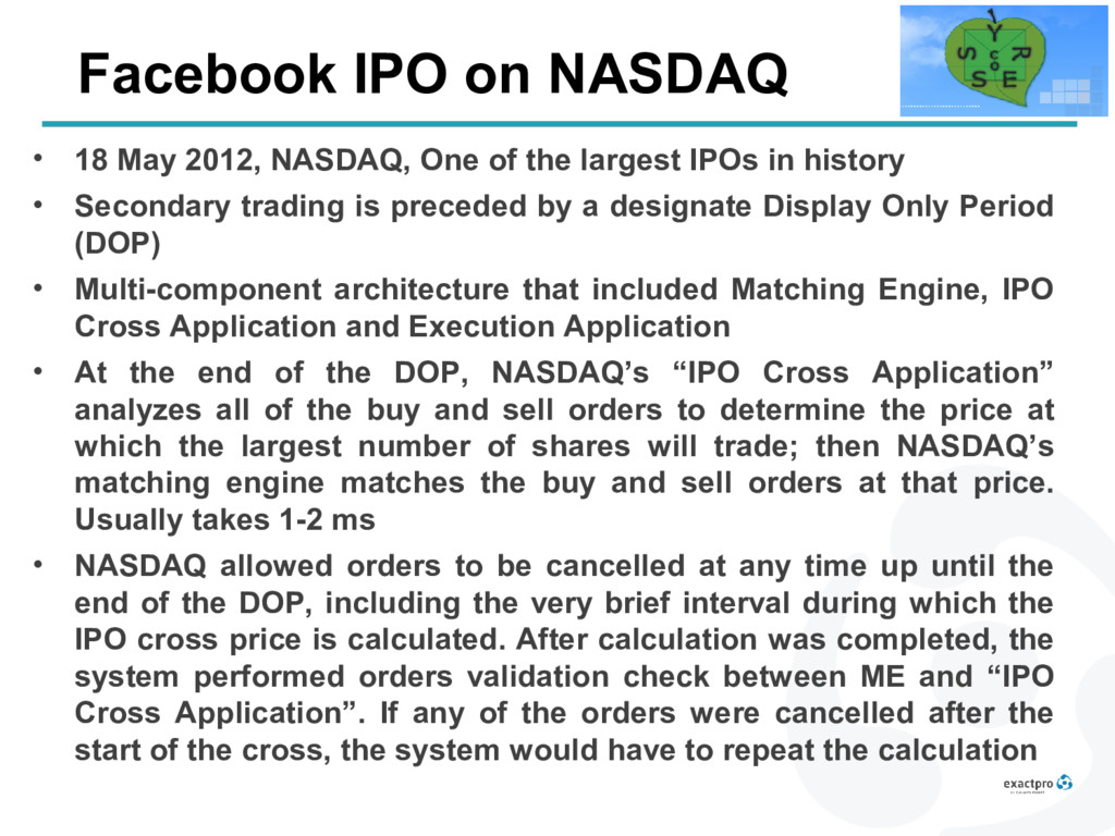 Facebook IPO on NASDAQ • 18 May 2012, NASDAQ, O...